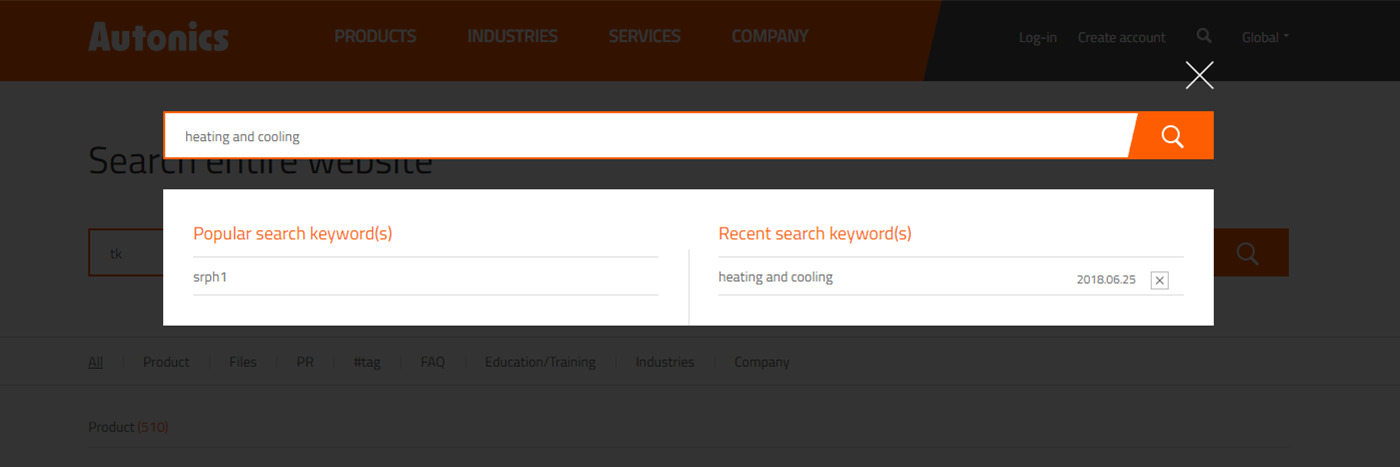 Find products by keywords